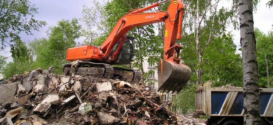 Снос домов с уборкой и вывозом мусора